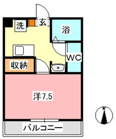 MSDハイツ1階Fの間取り画像