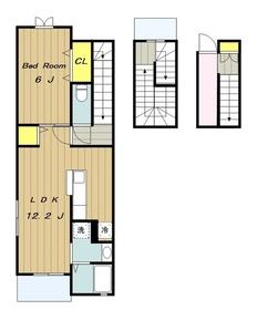 ベル メール3階Fの間取り画像