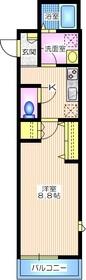 シャ ノワール2階Fの間取り画像
