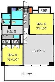ラ・ピュセル5階Fの間取り画像