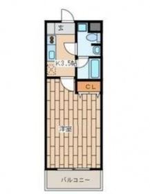 クレール1階Fの間取り画像