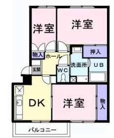 フルールジャルダン2階Fの間取り画像