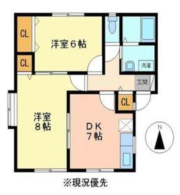 ラ・メイジュⅠ2階Fの間取り画像