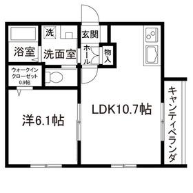 LUCE IKEBUKURO2階Fの間取り画像