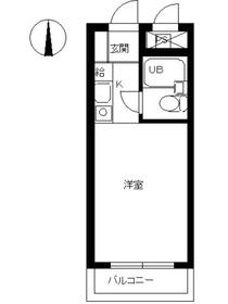 スカイコート橋本13階Fの間取り画像