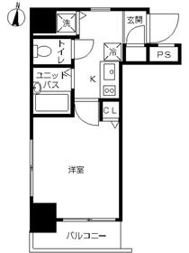 スカイコートお茶の水女子大前第22階Fの間取り画像