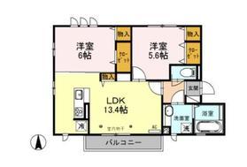(仮)D‐Room海老名市杉久保南1丁目2階Fの間取り画像