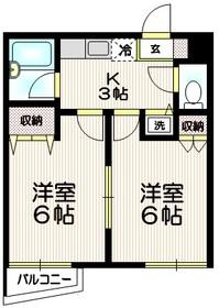 グレイス千秋2階Fの間取り画像