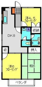 サマックス広瀬ハイツA2階Fの間取り画像