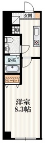 Park Bear立川錦町2階Fの間取り画像