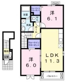 サピィー 三宅2階Fの間取り画像