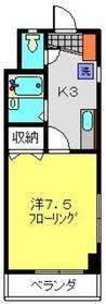 オークランドYK2階Fの間取り画像