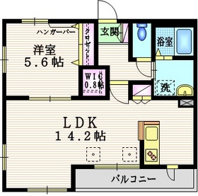 ラスール3階Fの間取り画像