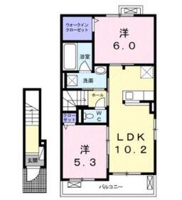 パーチェ2階Fの間取り画像