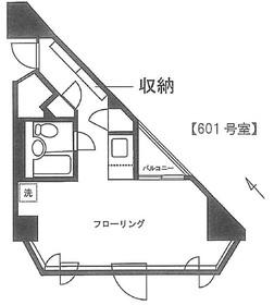 六本木シローマンション6階Fの間取り画像