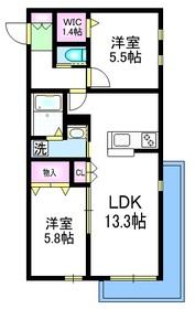 ヴィータ フェリーチェⅡ3階Fの間取り画像