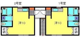 プラザ滝頭III1階Fの間取り画像