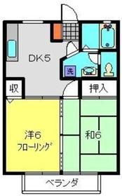 マンションTUKASA2階Fの間取り画像
