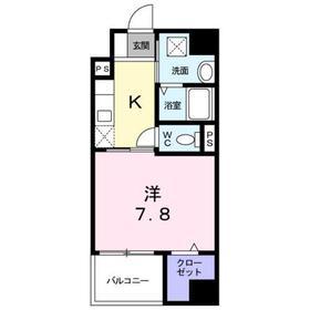 京王八王子駅 徒歩16分4階Fの間取り画像