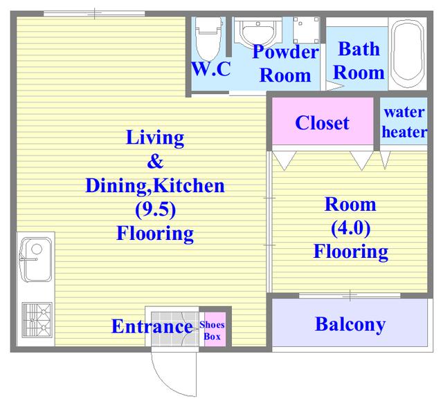 F maison MARE(エフメゾンマーレ) 人気の全室フローリング。収納スペースも充実しています。