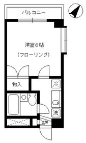 タウンコート細田2階Fの間取り画像
