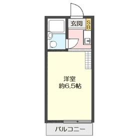 フラットハイツ上福岡1階Fの間取り画像