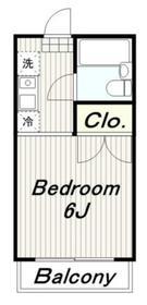 ミルローゼ2階Fの間取り画像