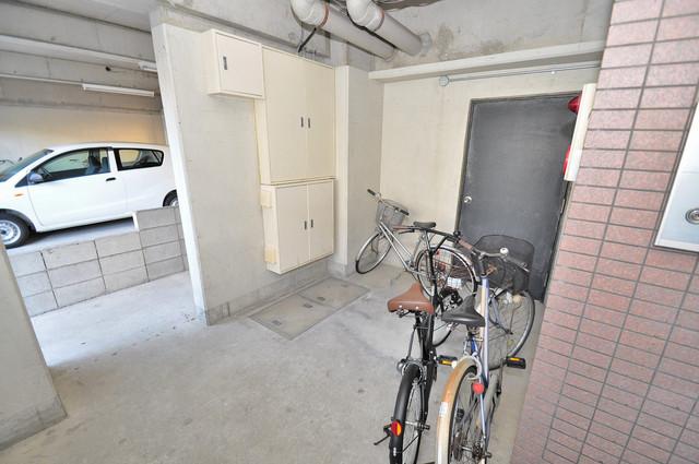 シティビラ新深江 あなたの大事な自転車も安心してとめることができますね。