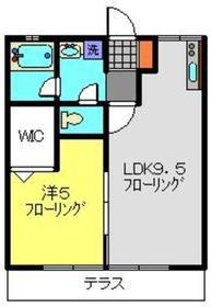 シティハイムホソノC1階Fの間取り画像