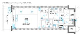ZOOM横濱EAST4階Fの間取り画像