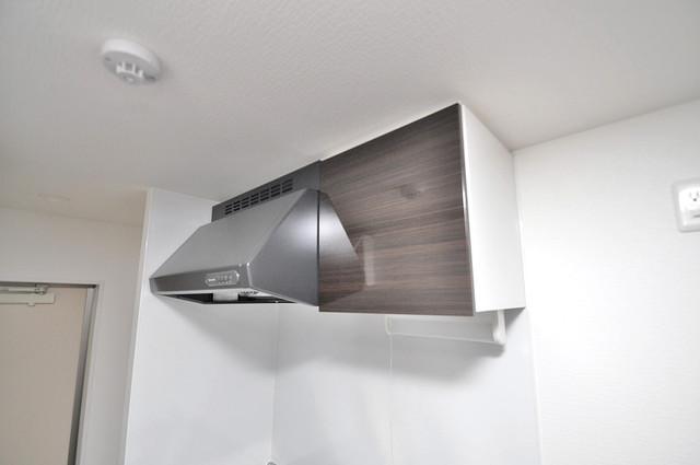 ノイヴェル巽北 キッチン棚も付いていて食器収納も困りませんね。