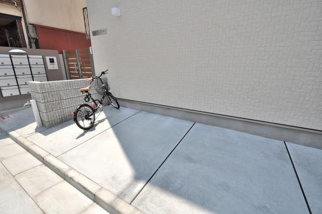ノイヴェル布施 あなたの大事な自転車も安心してとめることができますね。
