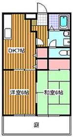 成増駅 徒歩20分2階Fの間取り画像