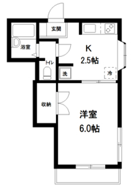 メゾン小石川1階Fの間取り画像
