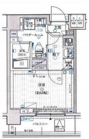 メインステージ横濱ポートサイド4階Fの間取り画像