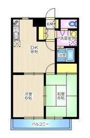 ドミールA2階Fの間取り画像