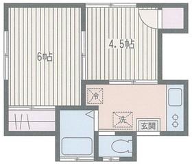 高橋荘2階Fの間取り画像