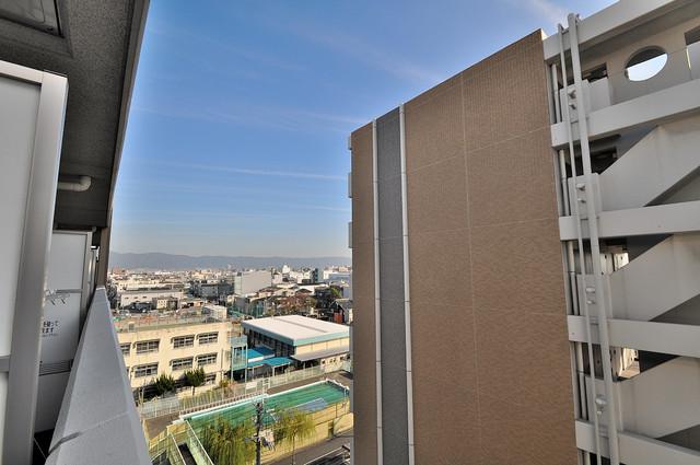 CASSIA高井田NorthCourt バルコニーは眺めが良く、風通しも良い。癒される空間ですね。