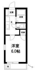 ビアンカ平和台1階Fの間取り画像