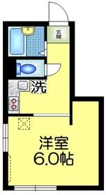 高瀬ビル2階Fの間取り画像