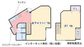 Succeed inn2階Fの間取り画像