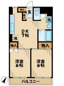 諏訪ハイム135階Fの間取り画像