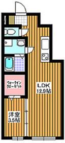 ラシュプレーム1階Fの間取り画像