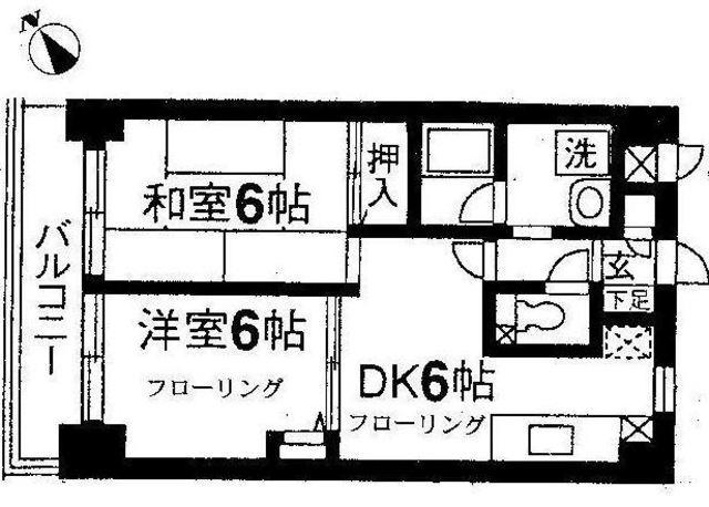 レジデンス二俣川第3間取図