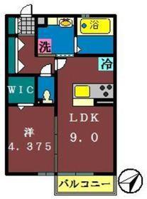 メルベーユ(藤崎)2階Fの間取り画像