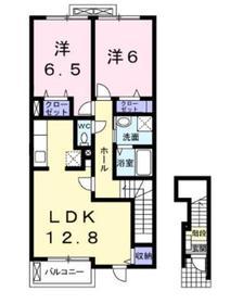 シモノハオスⅠ2階Fの間取り画像