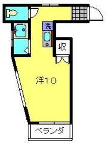 日吉駅 バス13分「下田上町」徒歩2分2階Fの間取り画像