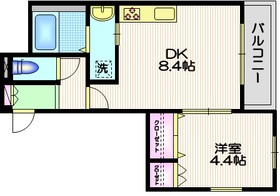 パーム スリー2階Fの間取り画像