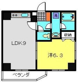 ティーリーフ横浜モデルノ3階Fの間取り画像