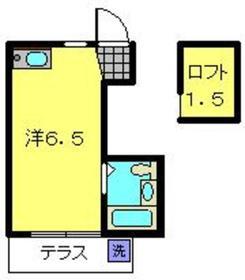 ベルポアン新丸子1階Fの間取り画像